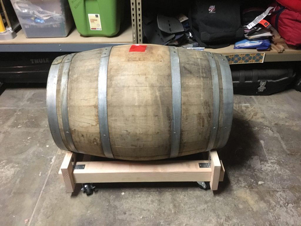 Barrel sitting in the cradle